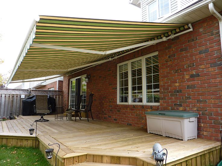 Awning over Deck.