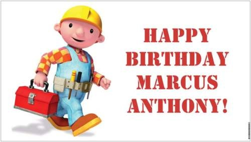 Bob the Builder Construction Birthday Party Banner - A beautiful showpiece for your child's birthday and a wonderful keepsake. Dimensions: 3' x 1.6' Printed on high quality, white 10oz. vinyl, which is flexible material with a matte finish and is fade-resistant, tear-resistant, and flame-retardant. Banners are professionally printed and are shipped rolled. Your banner will never be folded, so it will have no creases. $29.95