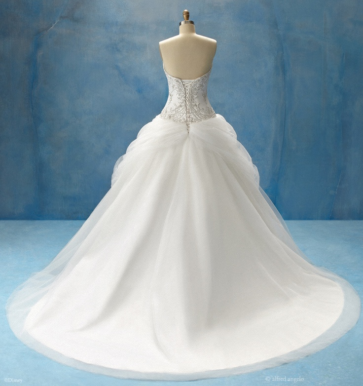 Belle inspired wedding gown (back) by alfred angelo - the gather at the base of the corset is so elegant!