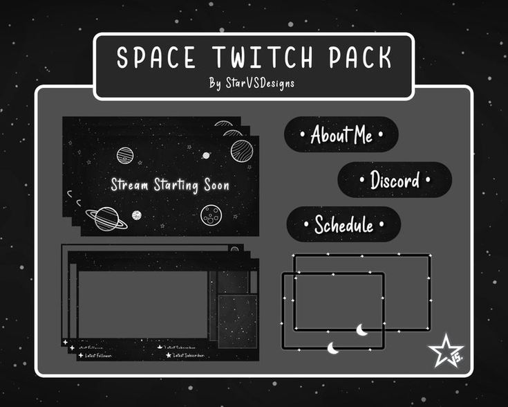 Animated Twitch Simple Space Stream Package Screen Overlay Etsy In 2021 Overlays Twitch Streaming Setup Twitch