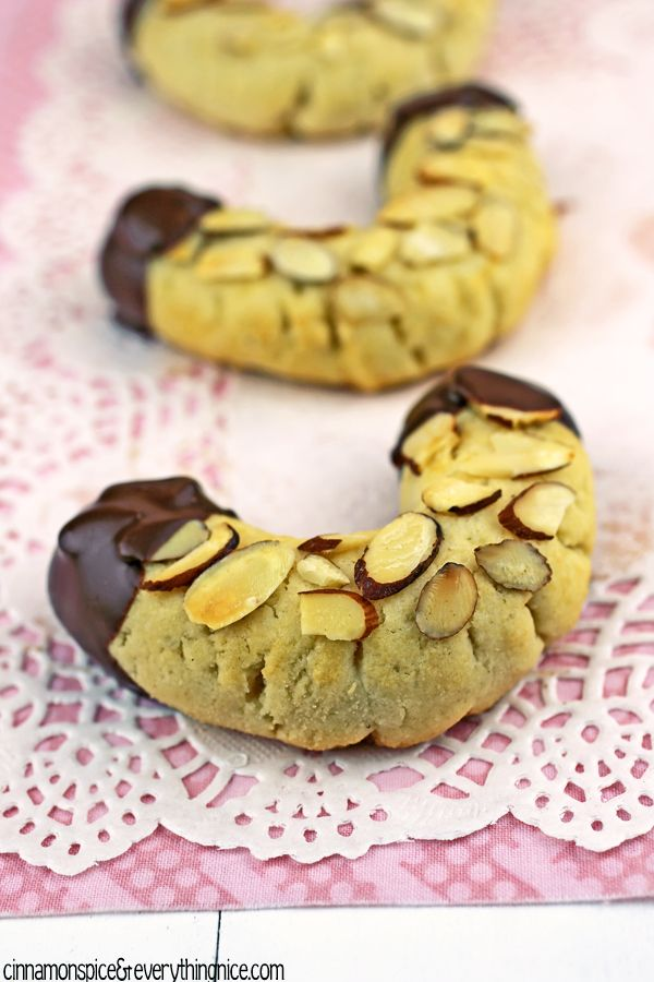 Chocolate Dipped Almond Horns