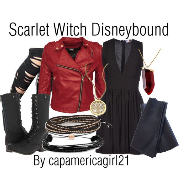 Scarlet Witch Disneybound by capamericagirl21 on Polyvore