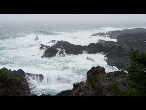 Rain Sounds, Ocean Waves and Distant Thunders – 4k Ultra Hd – Relaxing Sleep Sound - YouTube