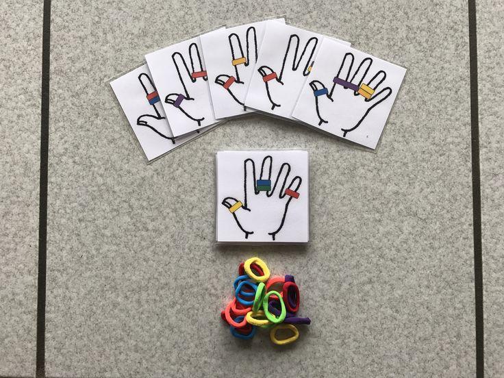 Jeu main avec des élastiques
