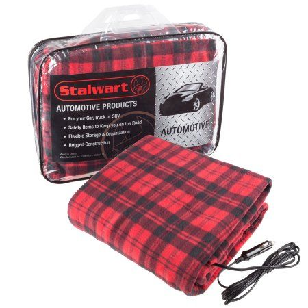 Electric Heater Car Blanket Heated Travel Throw Electric Blanket For Car And Rv 12 Volt By Stalwart Walmart Com Car Blanket Electric Blankets Car Camping