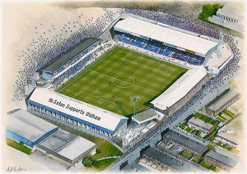 Boundary Park(Oldham Athletic) @ sportsstadiaart.com