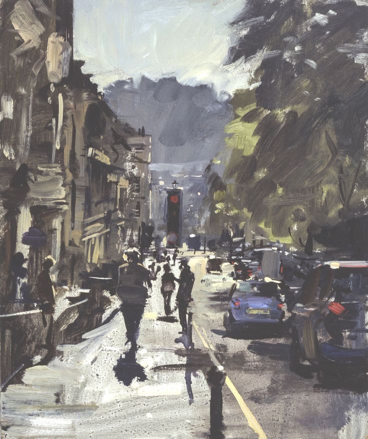 Peter Brown - The top of Queen Square into the light 2013