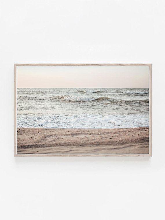 Horizontal Wall Art,Beach Print,Horizontal Print,Art Print,Pastel Wall Art,Ocean Print,Beach Photography,Art above Bed,Horizontal Art Print – Aris Selections