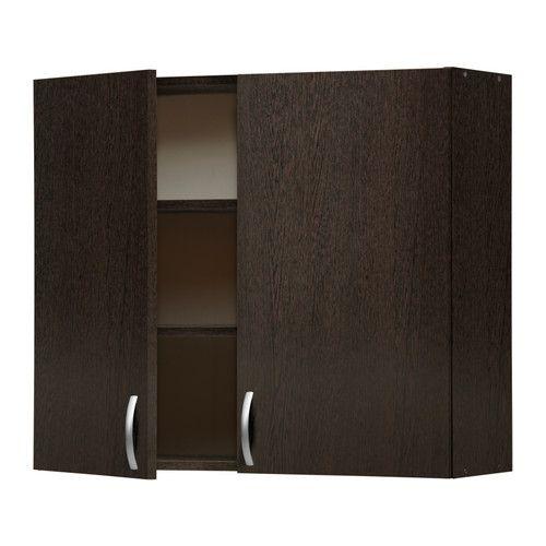 IKEA - АЛЬБРУ, Навесной шкаф с дверями, , Регулируйте пространство для хранения в соответствии с вашими потребностями, используя 2 съемные полки.</t><t>Каркас шкафа, дверцы, фронтальная и отделочная панель ящика покрыты меламином, обеспечивают простую в уходе поверхность, устойчивую к появлению царапин.</t><t>Вы легко установите дверцу в правильное положение, так как петли регулируются по высоте, глубине и ширине.