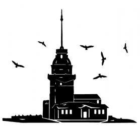 Vektörel Kız Kulesi Silüeti