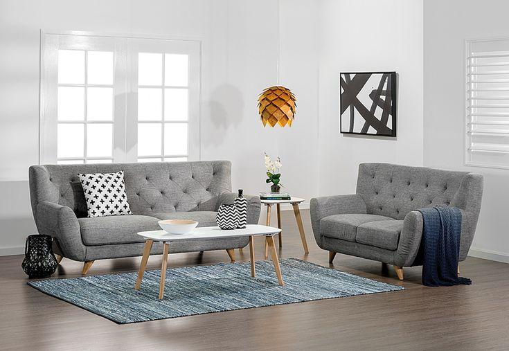 Juniper Fabric Sofa Pair | Super A-Mart