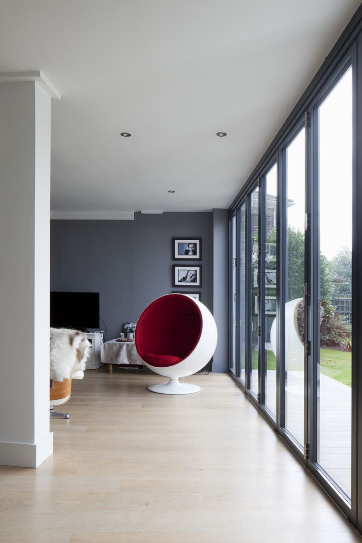 10 best large renovation extension project hove east for Floor to ceiling folding glass doors