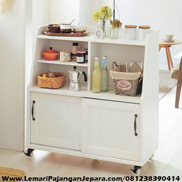Lemari Nakas Cat Putih, Nakas, Perabot, Perabot Dapur, Lemari Dapur, Nakas Dapur