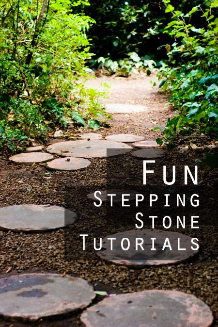 ** Circle Pavers Made Into Whimsical Stepping Stones @sunlitspaces