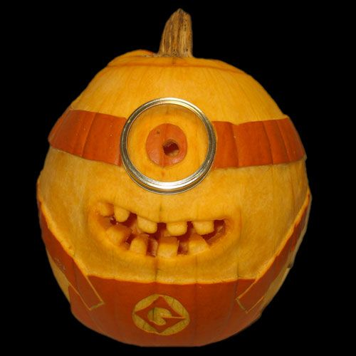 One in a minion pumpkin carving boo pinterest for Boo pumpkin ideas