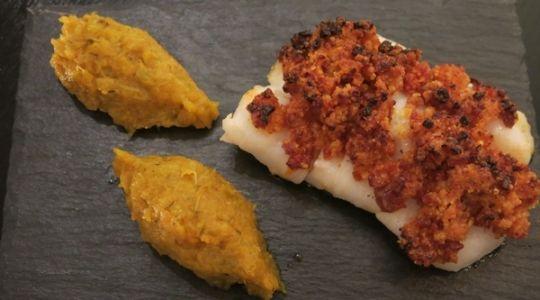 Dos de cabillaud - crumble de chorizo au Cook Expert Magimix par Aurélie Kalt