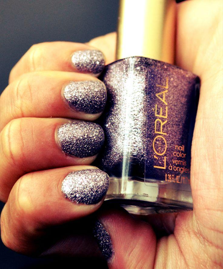 L'ORÉAL nail polish 'diamond in the rouge' #140 #nails #beauty #fashion #purple #diamonds