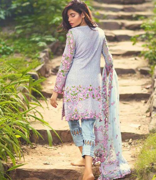 Mina Hasan Embroidered Chiffon Suits Collection 2016 Volume-2 MH_9