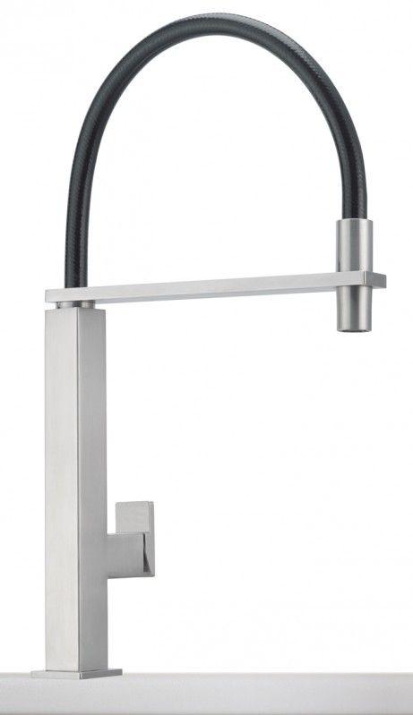 Franke Küchen-Armatur Centinox Zugauslauf massiv Edelstahl Armaturen für Küchen-Spülen 8514