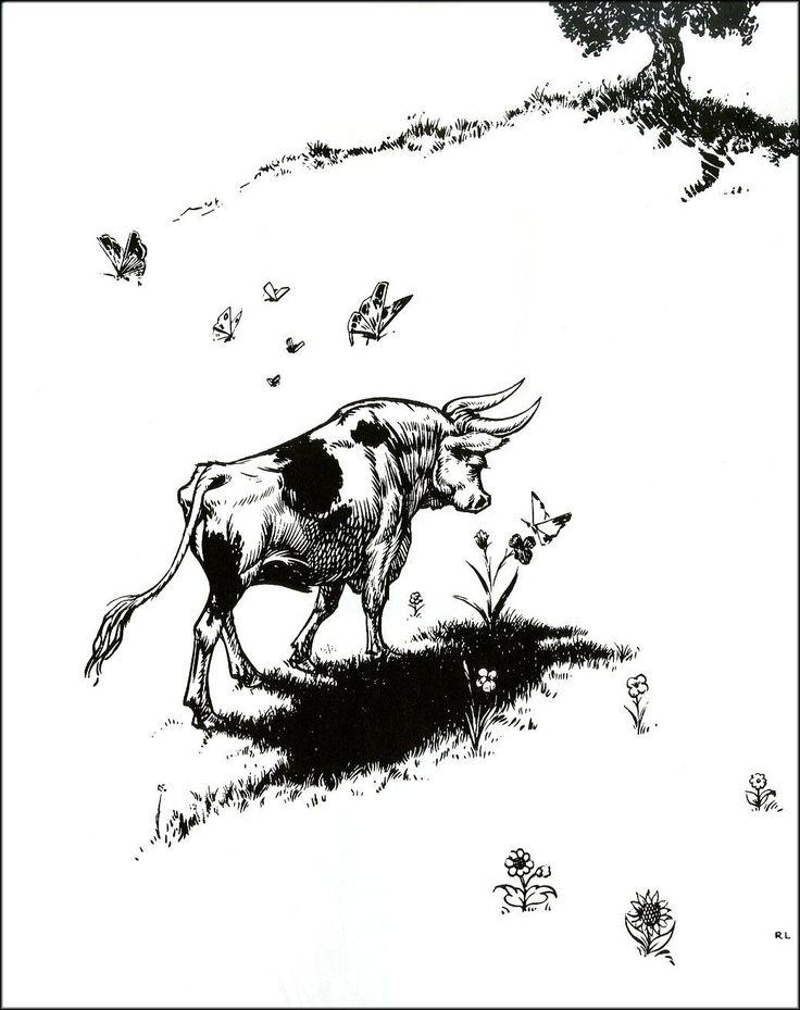 Robert Lawson's illustrations of Ferdinand the Bull perfectly accompany Spaniard Munro Leaf's wonderful story.