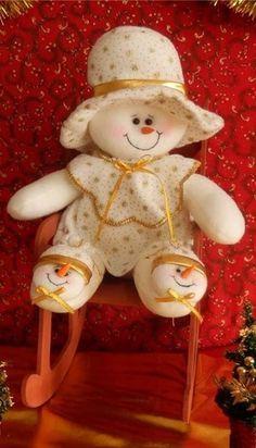 Muñequita de Nieve | MUÑECOS NAVIDEÑOS - NIEVES | Pinterest