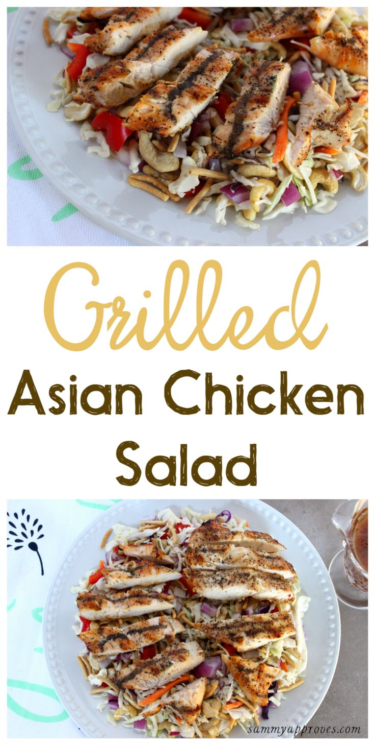 Such an easy go-to Family Meal to put on your weekly menu. Great for frugal moms looking for low cost meal ideas. Grilled Asian Chicken Salad