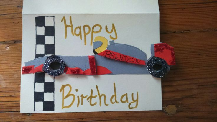 F1 birthday card