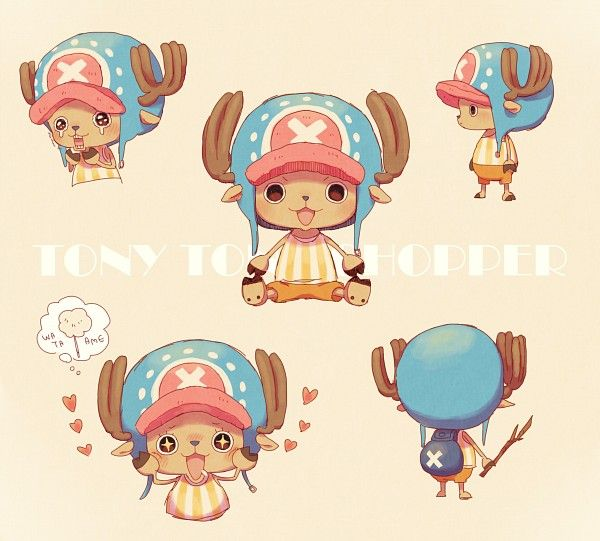 Pixiv Id 3705298, ONE PIECE, Tony Tony Chopper, Pink Background