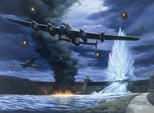 Lanaster Dam Buster Bomber Aviation By Carlos Garcia Fine