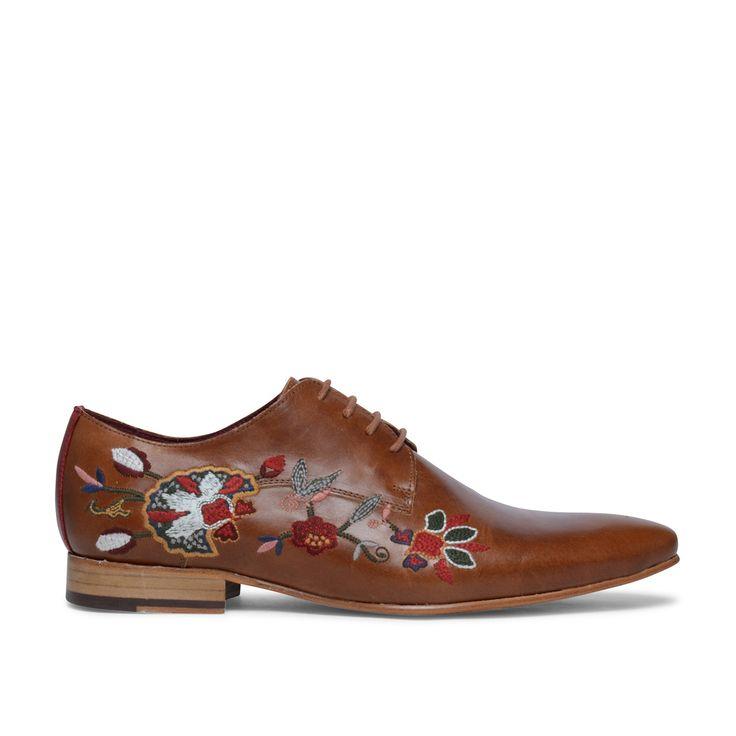 Bruine nette schoenen embroidery #sachashoes