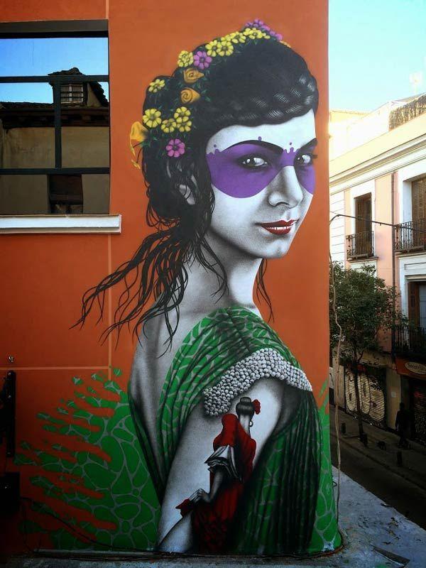 Street art in Madrid, Spain by Fin Dac (Photo by StreetArtNews)