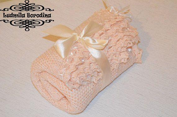 Нежный плед для новорожденного от LudaBorodina на Etsy, $30.00