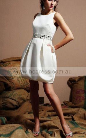 Zipper Knee-length A-line Natural Jewel Formal Dresses gt3561--Hodress