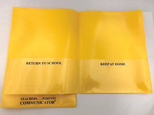 Nicky's Communicator Folder (Pack of 3), Flexible Plastic Folder for Letter Size Papers (Yellow)  Same color pack of 3  Made from flexible archival polypropylene plastic  Ultra-sonic seal is strong and long lasting  Water resistant and easy to clean  Made in the USA