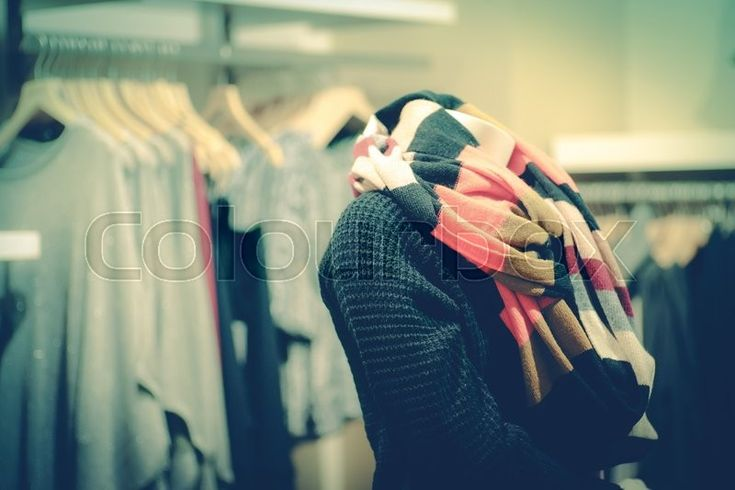 Stock image of 'Fashion store filled with clothes for women'