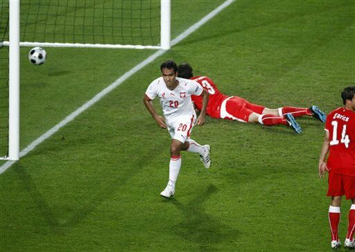 Austria 1 Poland 1 in 2008 in Vienna. Roger Guerreiro had a simple tap in on 30 minutes to make it 1-0 to Poland in Group B at Euro 2008.