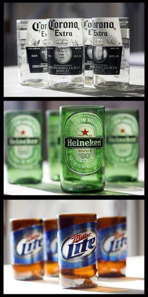 Como convertir una botella de cerveza en un vaso