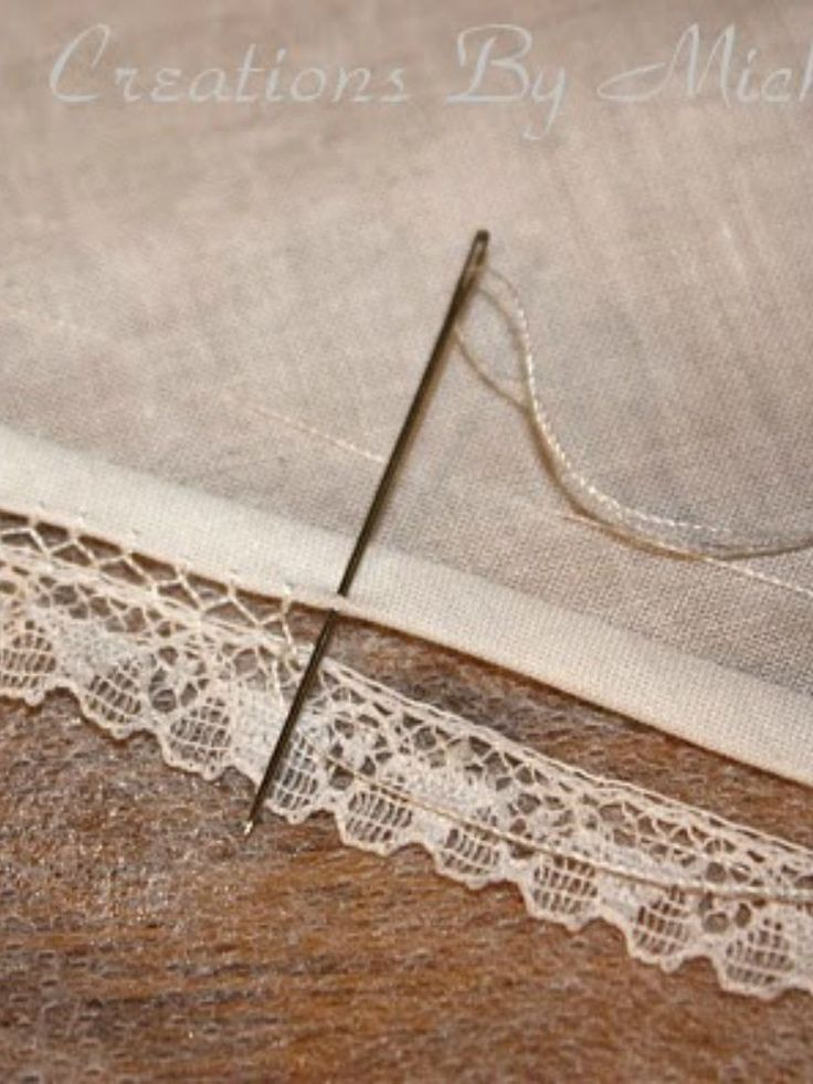 Bridging - a very old technique used to attach lace or a tiny bias band to fabric.
