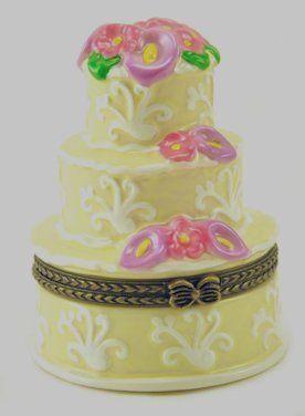 Porcelain Teapot Favor - Wedding Cake