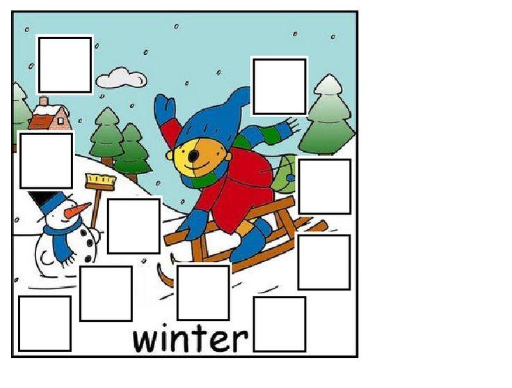 Dikke duimen kaart - thema winter