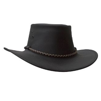 """Echuca"" Black or Brown Buffalo leather cowboy hat by Kakadu, womens cowboy hat, mens cowboy hat, cowboy hat for men, leather western hat, black leather cowboy hat, brown leather cowboy hat, cowboy hat"