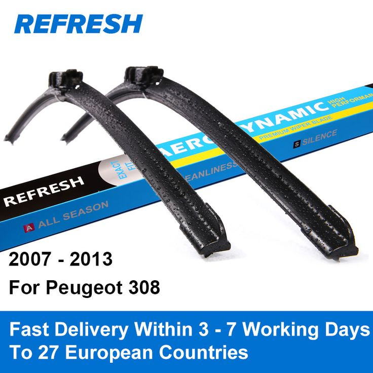 Click image to buy!  REFRESH Wiper Blades for Peugeot 308 T7 Hatchback / SW / CC 30""