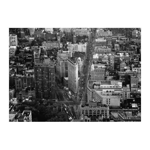 PREMIÄR  Picture, Flatiron Building, New York  $149. Motif created by Angelo Cavalli. Printed on canvas which adds depth and life to the motif