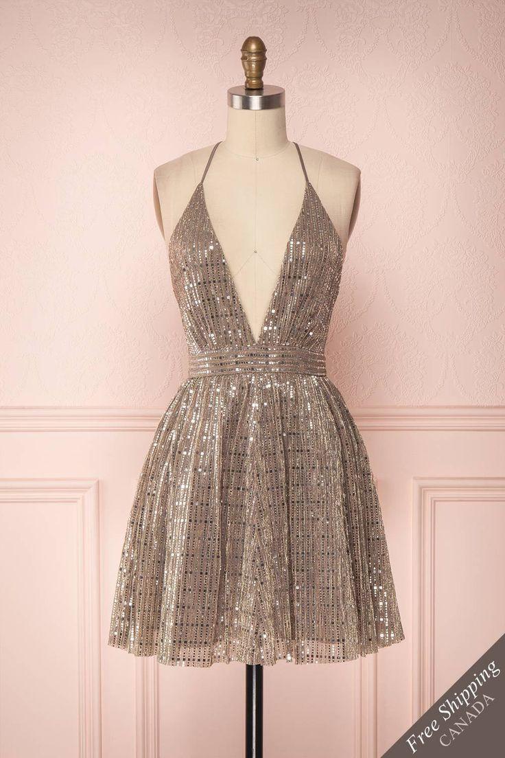Tziona – Ein schillerndes Partykleid aus Metall, um zu beeindrucken! # boutique1861
