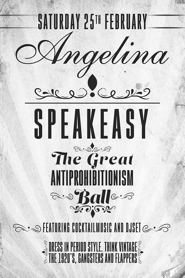 Grande #Ballo dell'Antiproibizionismo 25/02 da Angelina  h.20 #Aperitivo #dinner #clubbing  #Cocktail Speak Easy #Djset su prenotazione  Via Galvani 24
