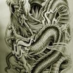 Oriental Dragon Tattoo Style (14)