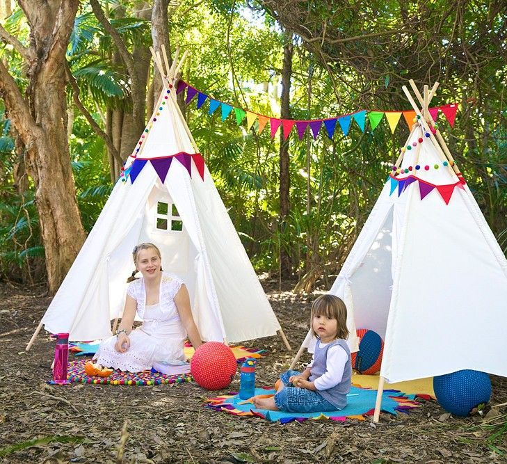Our current 'teepee' is a clothes airer with a sheet over the top of it... It's definitely time for an upgrade to this awesome Rainbows & Clover Teepee! #EntropyWishList #PinToWin