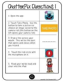 iPad Activities for Reading & Math using Chatterpix 2nd Gr