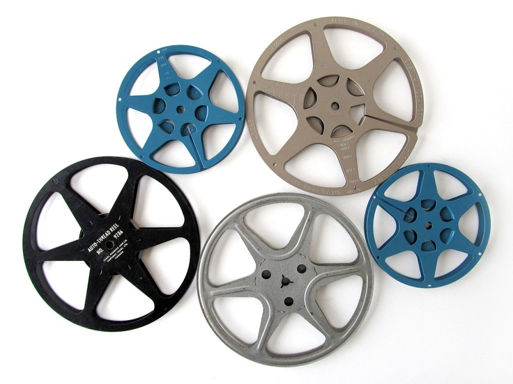 Vintage FILM REELS in Metal Cases - Set of 5 Reels. #sushipotvintage #etsy