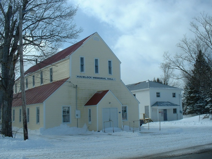 Community Hall in Havelock, New Brunswick, Canada. Little town I was born in